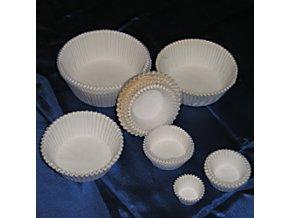 Cukrářské košíčky bílé 28 x 16 mm