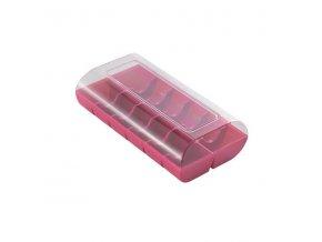 Krabice na makronky růžová 12 ks