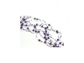 Girlanda - tmavě fialová