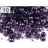 Girlanda - větší tmavě fialová 13 mm