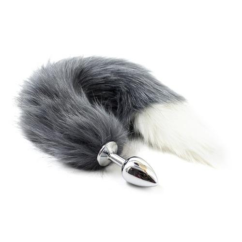 Ocelový anální kolík Stříbrná Liška