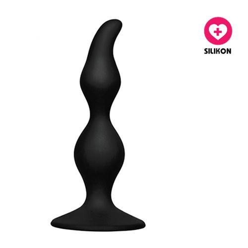 Silikonový anální kolík s přísavkou Suction Pleasure černý