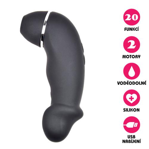 Vakuový vibrátor Clitoral Suction Dildo černý