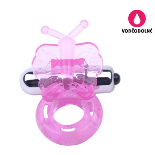Vibrační erekční kroužek Pink Butterfly