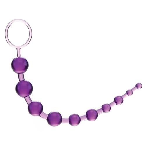 Anální kuličky 10 korálků fialové
