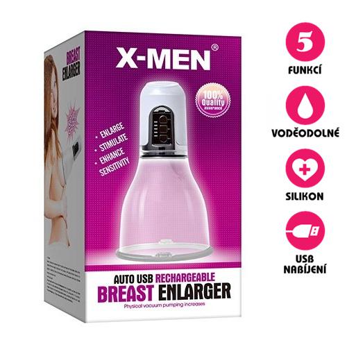 Automatická vakuová pumpa na prsa X-Men