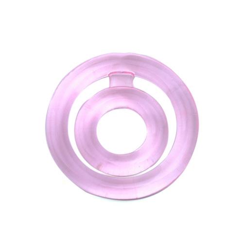 Erekční kroužek Double Ring růžový