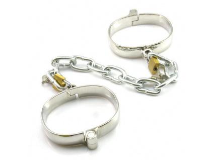 Kovová pouta na ruce Dungeon Iron Cuffs - M size