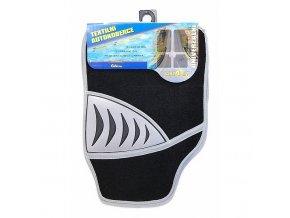 Koberce textilní SHARK 4ks šedé