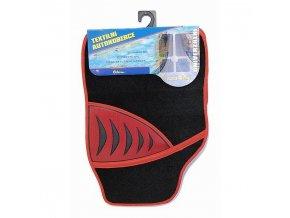 Koberce textilní SHARK 4ks červené