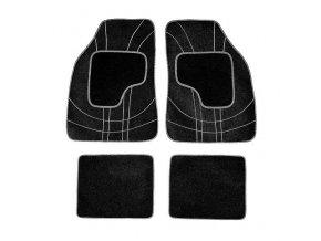 Koberce textillní NET 4ks šedé