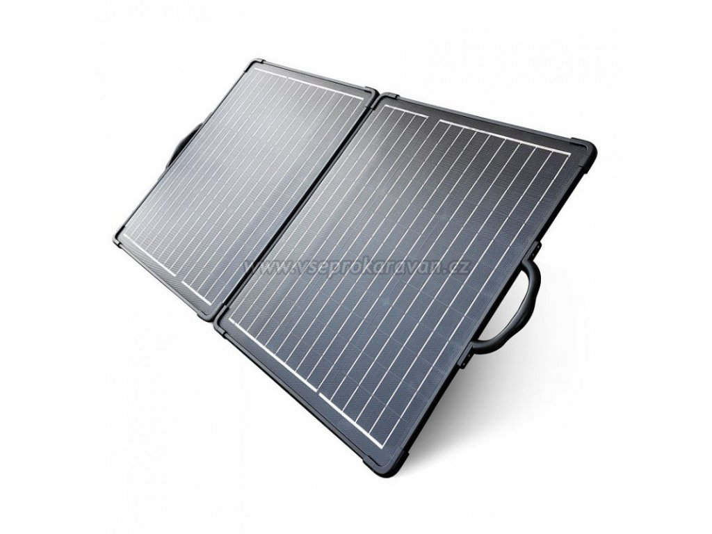 Skládací solární panel, 2x 50W www.vseprokaravan.cz