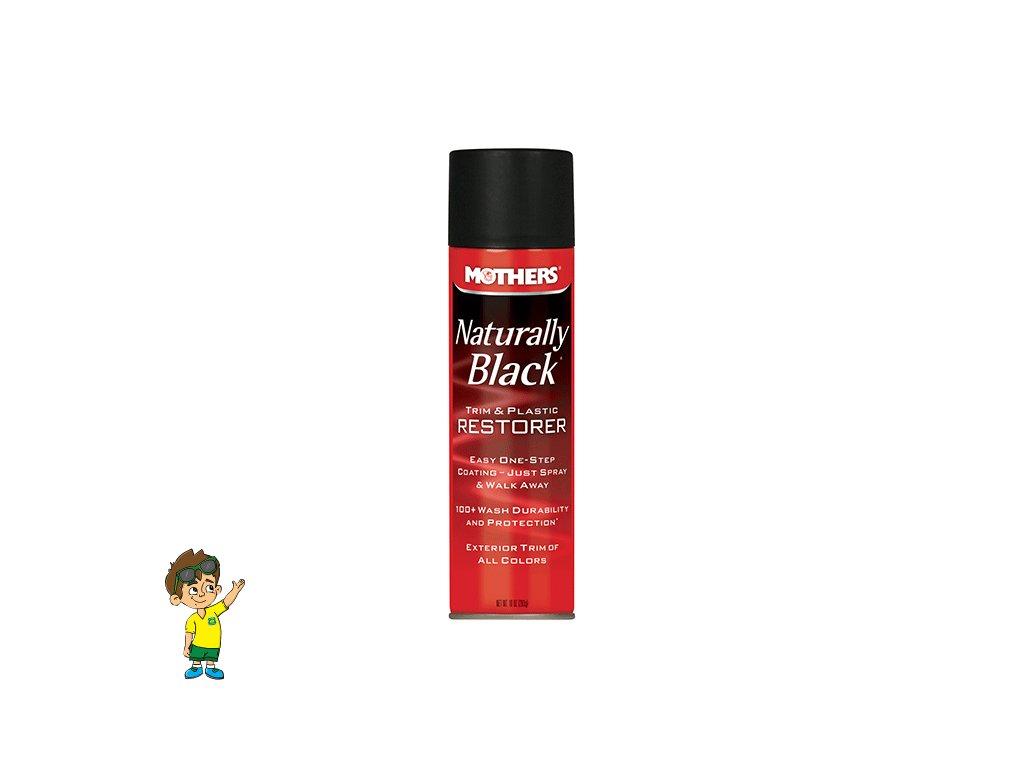 Oživovač nelakovaných plastů, sprej 295 ml, Mothers Naturally Black Trim and Plastic Restorer