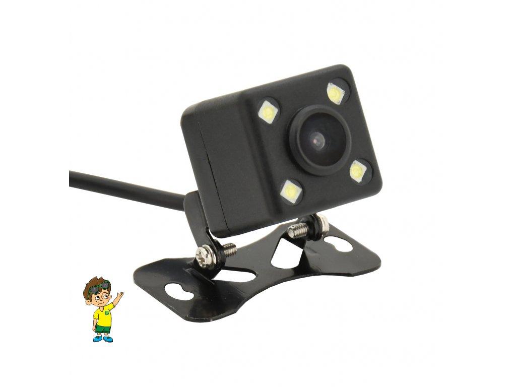 Parkovací kamera DICE bezdrátová polohovací s LED přísvitem www.vseprokaravan.cz