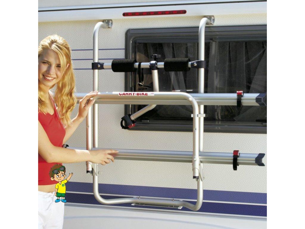 Nosič kol zadní na obytné přívěsy, Fiamma® Carry-Bike Caravan Hobby www.vseprokaravan.cz