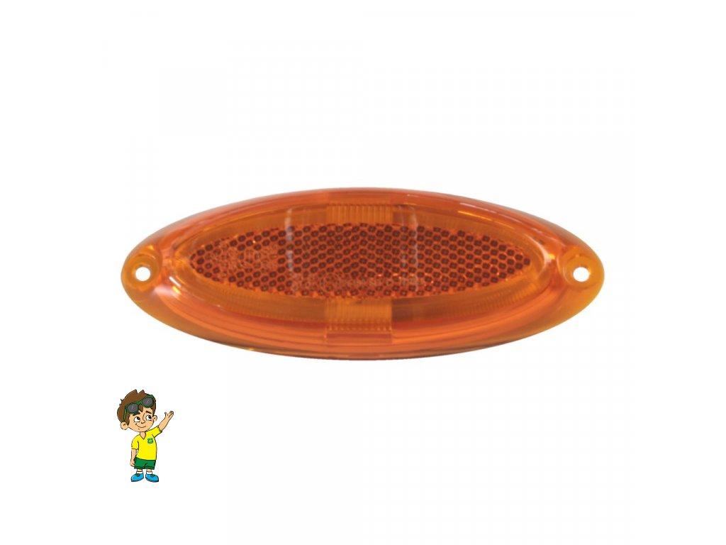Obrysové světlo LED, oranžová, DIMATEC , www.vseprokaravan.cz