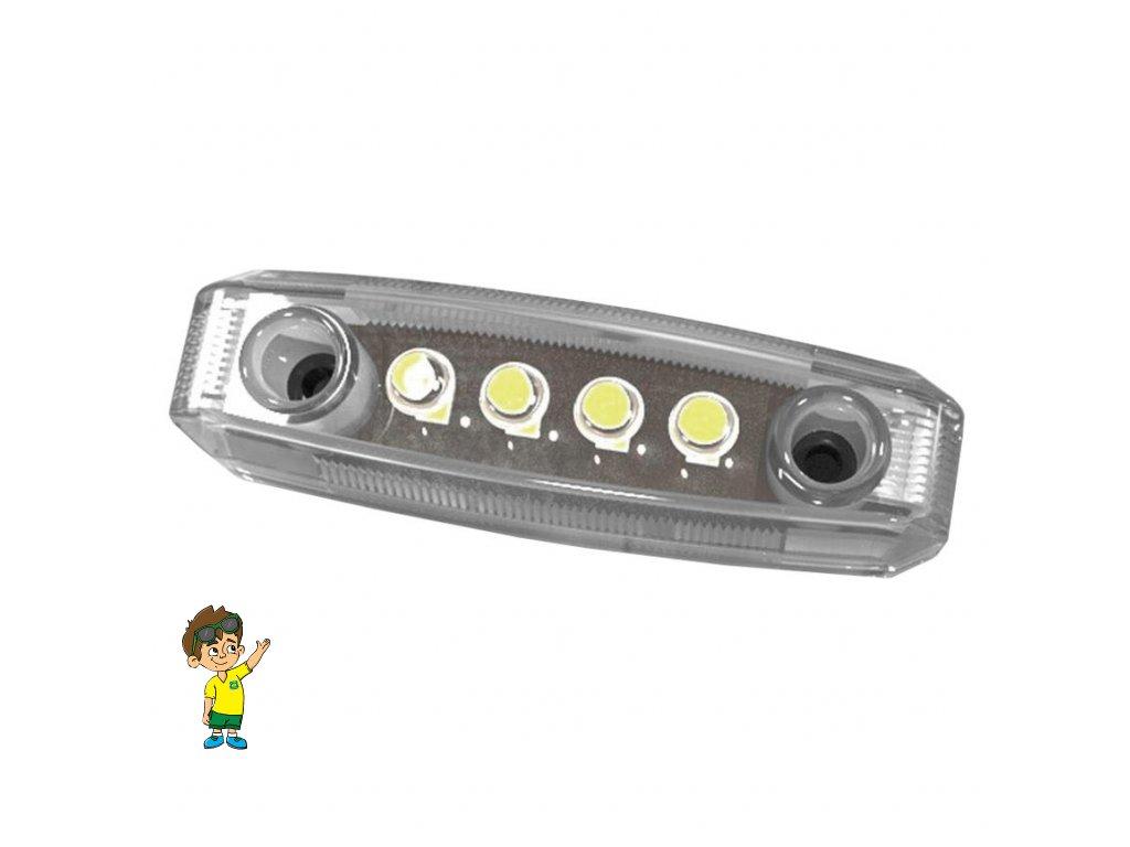 LED obrysové světlo, bílé, DIMATEC, www.vseprokaravan.cz