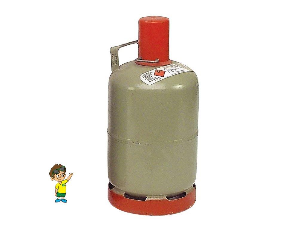 Plynová láhev 5 kg, ocelová SRN, www.vseprokaravan.cz