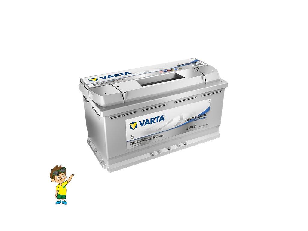 Trakční baterie VARTA Professional Dual Purpose 12V, 90Ah, EL0054 www.vseprokaravan.cz