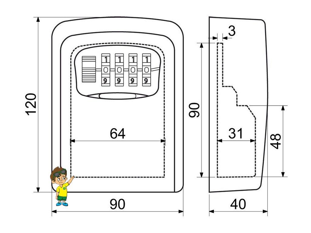 ZA0050 Trezor na klíče, Master Lock ML5401 www.vseprokaravan.cz