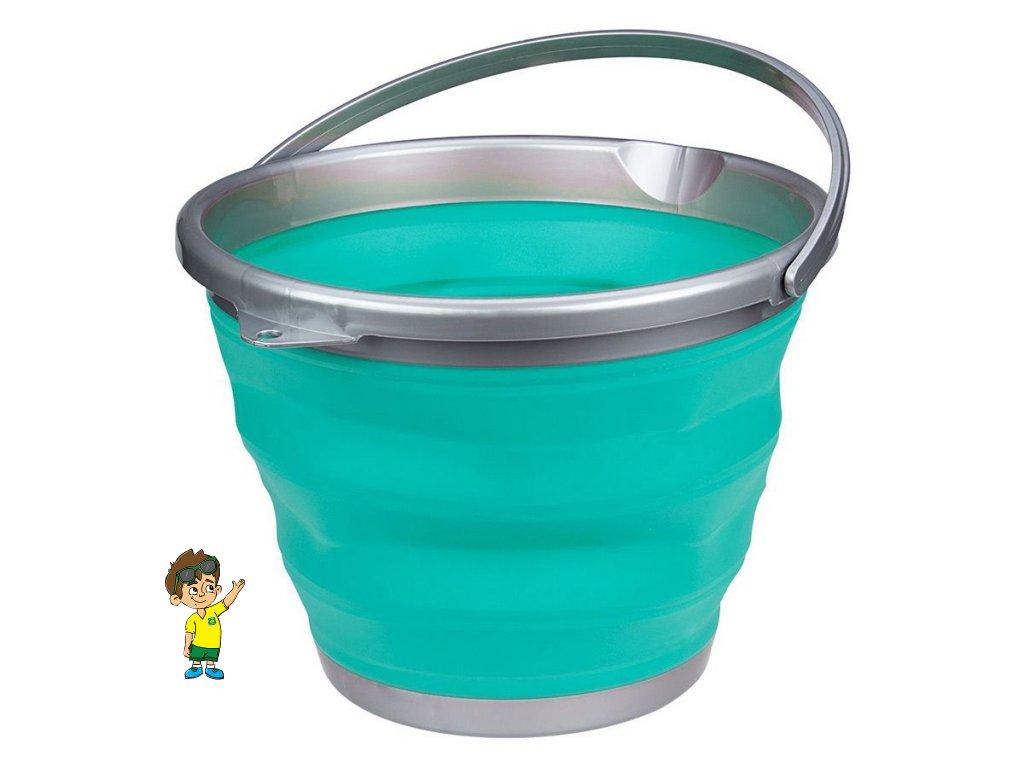Skládací kbelík, 10l www.vseprokaravan.cz