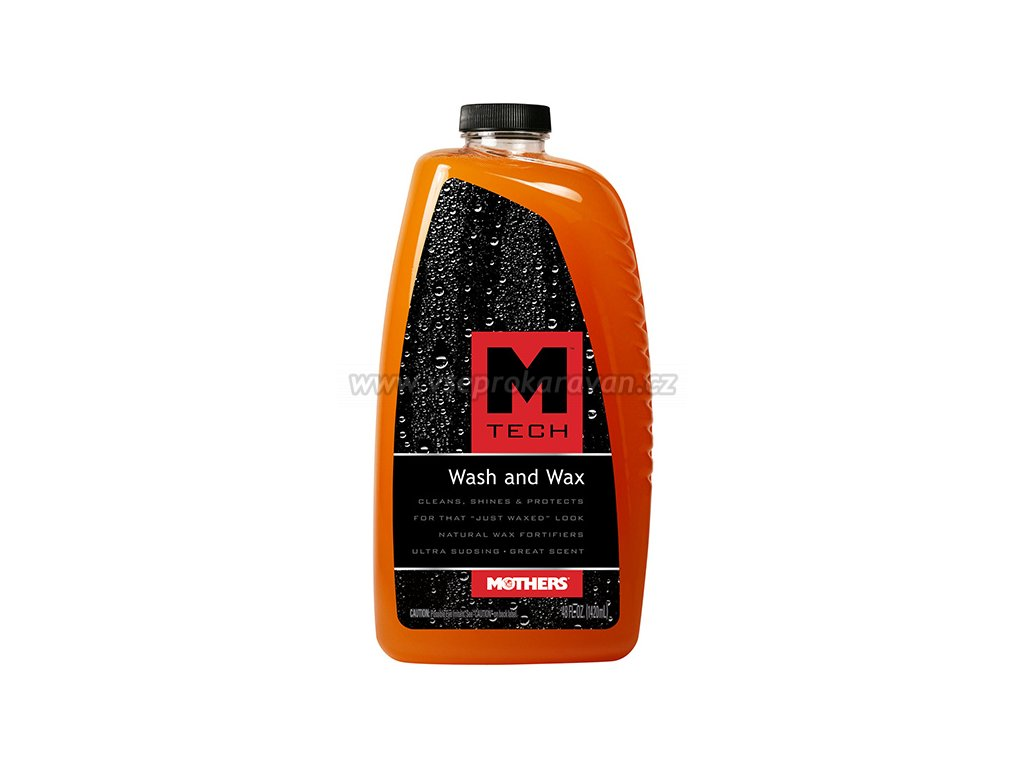 Autošampon s voskem, Mothers M-Tech Wash&Wax, 1,42 l, www.vseprokaravan.cz