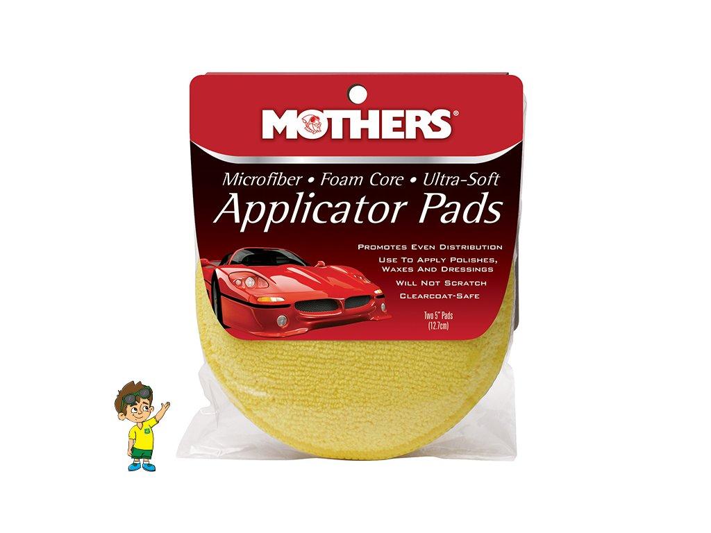 Jemné mikrovláknové aplikátory 2 ks, Mothers Microfiber Applicator Pads, průměr 12,5 cm