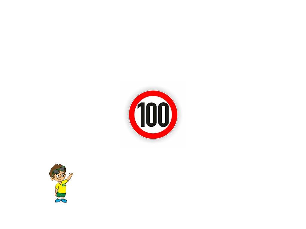Rychlostní samolepka 100 km, průměr 200 mm, REFLEXNÍ, www.vseprokaravan.cz