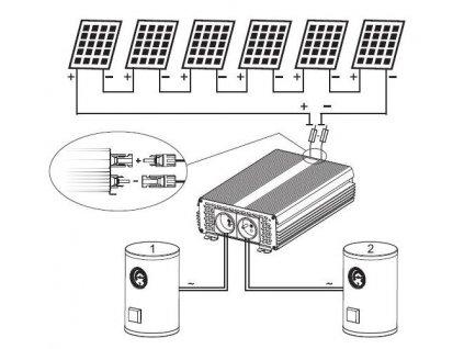 Solární SET pro ohřev vody v kotlích, 8x 280W www.vseprokaravan.cz