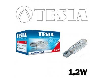 Žárovka 12V 1.2W W2x4.6d TESLA