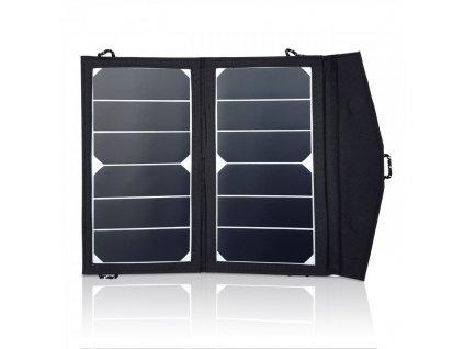 2x7 W monokrystalický přenosný solární panel, www.vseprokaravan.cz