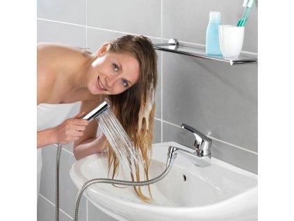 Sprchová hlavice s dvojitým držákem www.vseprokaravan.cz