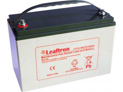 Záložní baterie - akumulátor Leaftron LTC 12-100, 12V 100Ah, www.vseprokaravan.cz