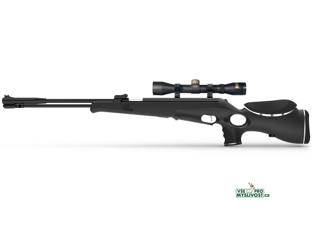SET - vzduchovka Retay 100X černá a puškohled Beeman 4x32