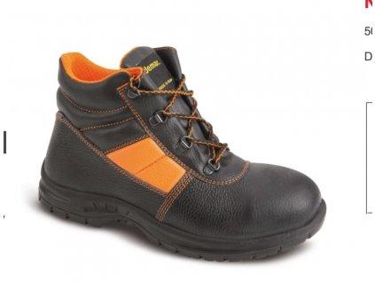 DEMAR Dásmké pracovní boty kotníkové BOLT UP L S1 SRC 7161 černá oranžová