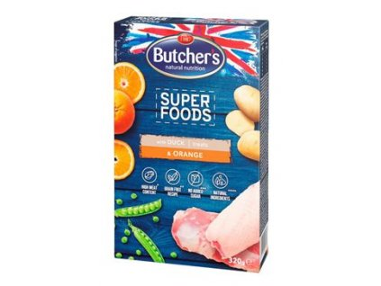 123596 butcher s dog superfoods gf kachna pomeranc 320g