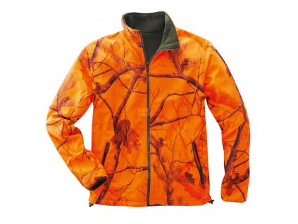 Oboustranná fleece bunda WILLOW, reflexní REAL TREE vzor (Velikost 2XL)