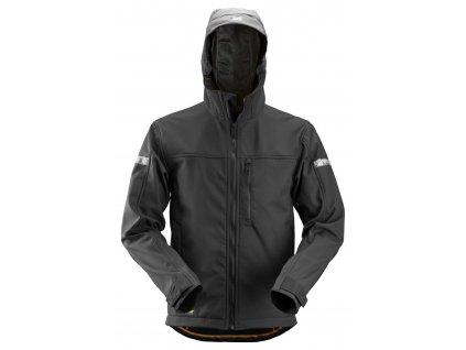 Bunda softshell AllroundWork s kapucí pánská černá XS Snickers Workwear (Velikost XS, Barva bez barvy)