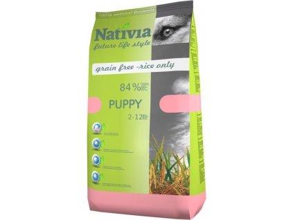 218074 nativia puppy chicken rice 3 kg novy
