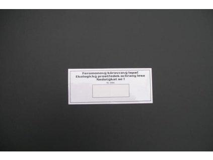 Štítek evidenční na lapač štěrbinový