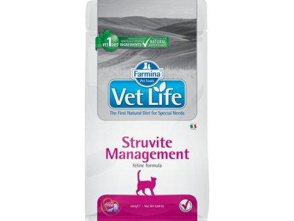 216301 vet life nature feline dry struvite management 400 g