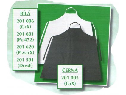 Zástěra GTX 120x82 zesílená LESK (Barva bílá)