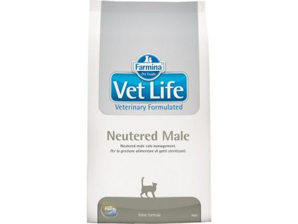 221737 vet life natural feline dry neutered male 10 kg