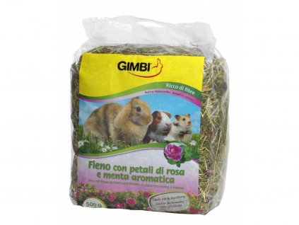 Gimborn Seno krmné s růží 500g