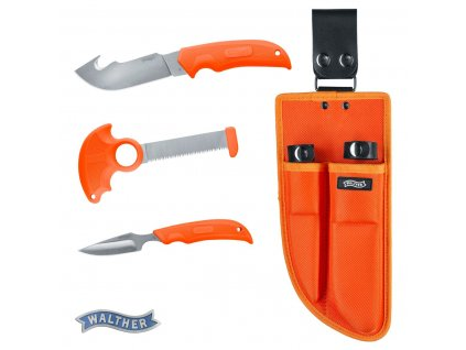 walther hunting knife set orange 5.0735 01