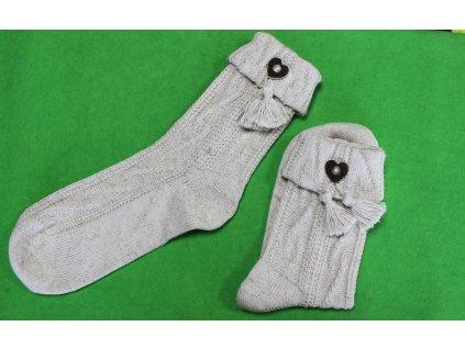 Ponožky Lusana s ozdobou - Jagd (Velikost ponožek 36/37)