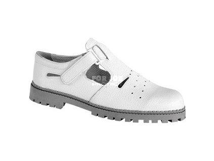 Klasický kožený sandál MAREK bílý, na pryžové podešvi