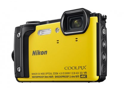NIKON COOLPIX W300 Yellow + 2 in 1 plovoucí popruh
