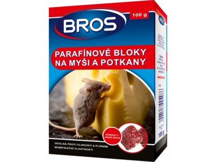 BROS Parafínové bloky na myši a potkany 100g rodenticid