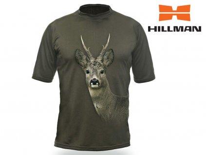 Myslivecké tričko  kr. rukáv Srnec 3D b. Dub (velikosti 2XL)